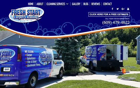 Screenshot of Home Page freshstartcarpet.com - Home | Fresh Start Carpet Cleaning | Carpet Cleaning | Upholstery Cleaning - captured Nov. 14, 2018