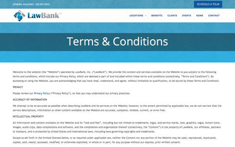 Screenshot of Terms Page law-bank.com - LawBank Terms and Conditions - LawBank - captured July 16, 2018