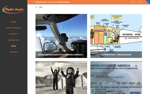 Screenshot of Blog flight-logic.com - The Latest News  | Learn To Fly | Flying Lessons | Pilots | Flight-Logic Flight Training and Flight Services - captured Nov. 3, 2014