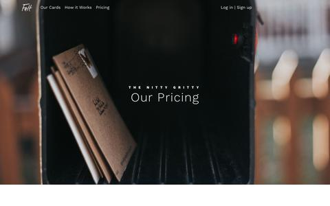 Screenshot of Pricing Page feltapp.com - Pricing - Felt App - captured April 13, 2019