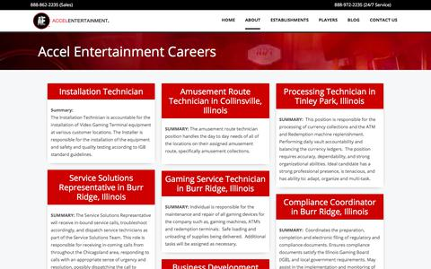 Screenshot of Jobs Page accelentertainment.com - Accel Entertainment Careers - captured July 28, 2018