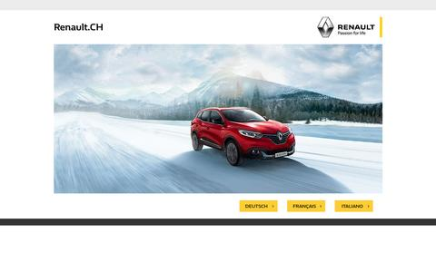 Screenshot of Home Page renault.ch - PASSION FOR LIFE - captured Feb. 19, 2016