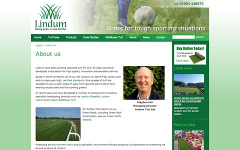 Screenshot of About Page turf.co.uk - Turf | Turf Supplier | About Us | Lindum Turf - captured Oct. 2, 2014