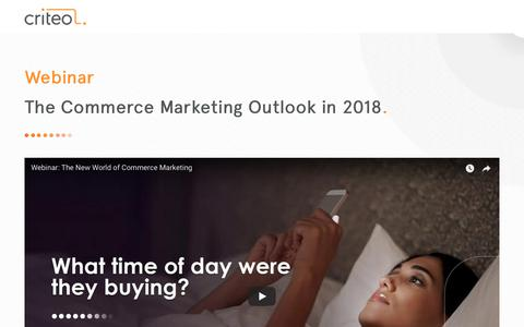Screenshot of Landing Page criteo.com - The Collaboration Imperative: How Retailers and Brands Win in 2018 - captured Sept. 3, 2018