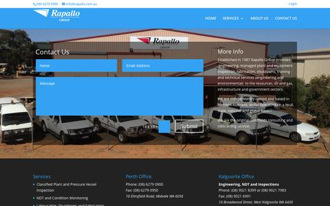 Screenshot of Contact Page rapallo.com.au - Contact Us - Rapallo Group - captured Feb. 23, 2016