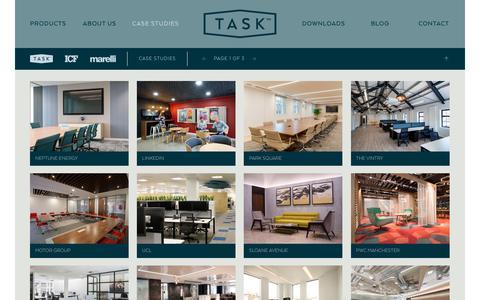 Screenshot of Case Studies Page tasksystems.co.uk - Task | Case Studies - captured Oct. 18, 2018