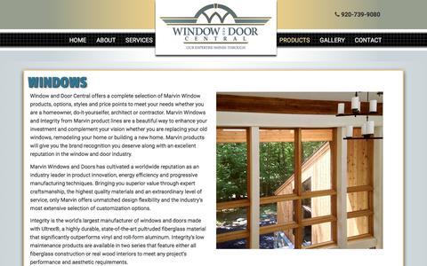 Screenshot of Products Page windowanddoorcentral.com - Replacement Windows Appleton | New Windows Fox Cities | Integrity Windows | Marvin Windows Wisconsin - captured Oct. 21, 2017