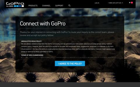 Screenshot of Contact Page gopro.com - GoPro Official Website - Capture + share your world - captured Oct. 28, 2014