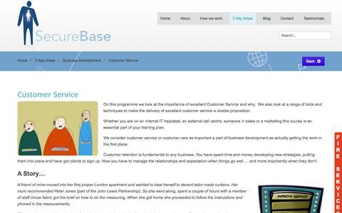Screenshot of Support Page securebase-esr.com - Secure Base ESR - Customer Service - captured Oct. 6, 2014