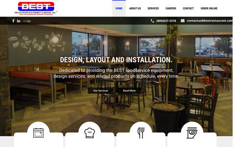 Screenshot of Home Page bestrestaurant.com - Home - Best Restaurant Equipment & Supply Co. - captured Oct. 10, 2017