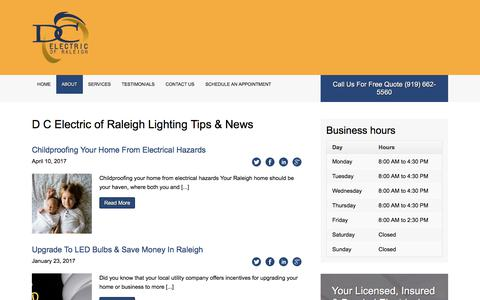 Screenshot of Press Page dcelectricofraleigh.com - News   D C Electric of Raleigh   Raleigh Electricians - captured July 6, 2017