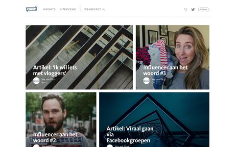 Screenshot of Blog wearefirst.nl - We are First - captured Nov. 25, 2016