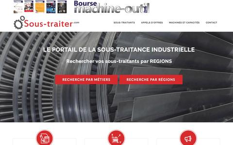Screenshot of Home Page sous-traiter.com - Sous-traiter.com : portail de la sous-traitance industrielle - captured March 24, 2017