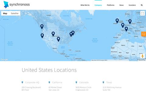 Screenshot of Locations Page synchronoss.com - Synchronoss Global Office Locations - captured Aug. 18, 2018