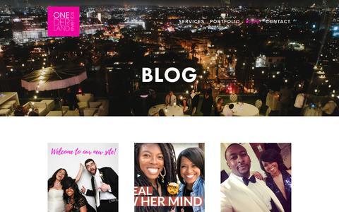 Screenshot of Blog onederlandevents.com - Blog — Onederland Events - captured Oct. 19, 2018