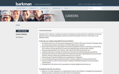Screenshot of Jobs Page barkmanconcrete.com - Careers | Barkman Concrete Ltd. - captured Oct. 10, 2017