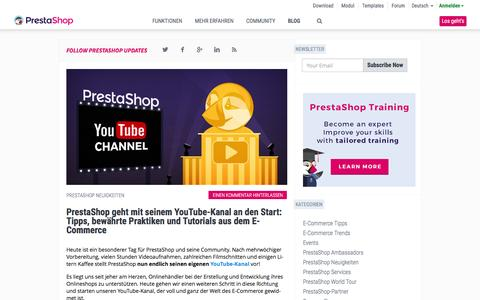 Screenshot of Blog prestashop.com - Der E-Commerce Blog von PrestaShop - captured March 30, 2016