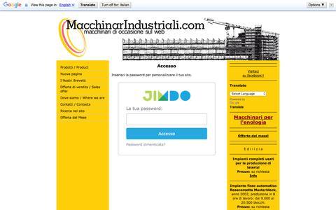 Screenshot of Login Page macchinarindustriali.com - Accesso - Macchinari industriali d'occasione - captured Jan. 23, 2016