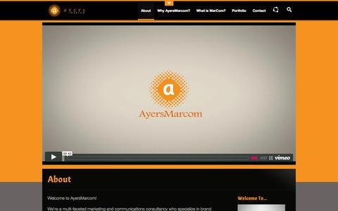 Screenshot of About Page ayersmarcom.com - About   AyersMarcom - captured Sept. 30, 2014