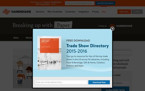 Screenshot of Blog handshake.com - Wholesale & B2B Best Practices   Handshake Blog - captured Nov. 18, 2015