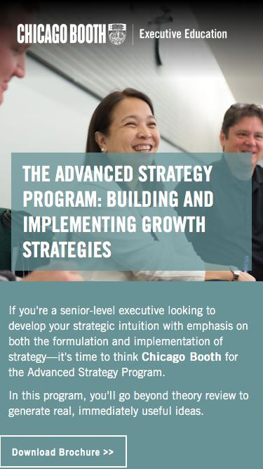 Executive Education at Chicago Booth | Advanced Strategy