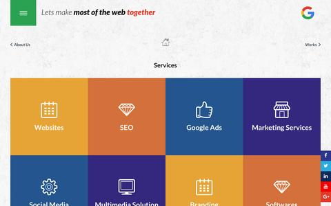 Screenshot of Services Page insightsdubai.com - Services | Insights Marketing and Communication Dubai - captured Nov. 13, 2016