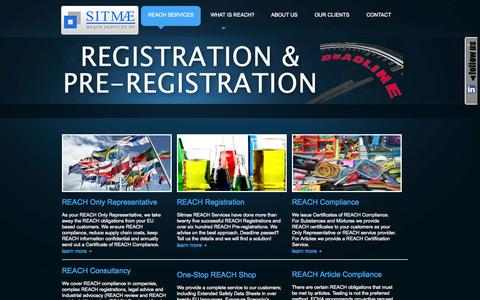 Screenshot of Home Page sitmaereachservices.com - Reach Services - Sitmae REACH Experts & Reach Consultancy - captured Oct. 6, 2014