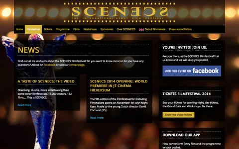 Screenshot of Press Page scenecs.com - News - captured Nov. 2, 2014