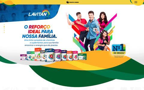 Screenshot of Home Page grupocimed.com.br - Grupo Cimed - A seleção de todos os brasileiros. - captured Oct. 18, 2018