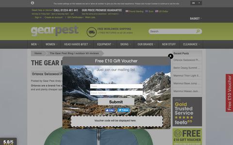 Screenshot of Blog gearpest.com - The Gear Pest Blog | outdoor kit reviews - captured Sept. 27, 2018