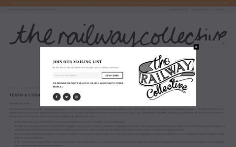 Screenshot of Terms Page therailwaycollective.com - Terms & Conditions – The Railway Collective - captured June 15, 2017