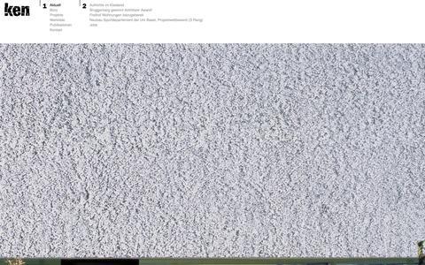 Screenshot of Home Page ken-architekten.ch - Ken Architekten - captured Sept. 16, 2015