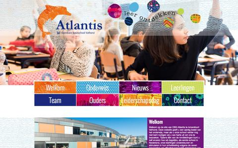 Screenshot of Home Page obsatlantis.nl - Leer ontdekken   OBS Atlantis - captured Aug. 11, 2016