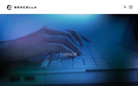 Screenshot of Jobs Page bercella.it - CAREERS - Bercella - captured Feb. 10, 2018