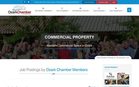 Screenshot of Jobs Page ozarkchamber.com - Job Search - Jobs – Ozark Chamber of Commerce - captured Oct. 22, 2017