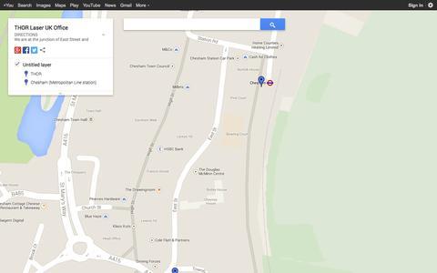 Screenshot of Maps & Directions Page google.com - THOR Laser UK Office - captured Oct. 30, 2014