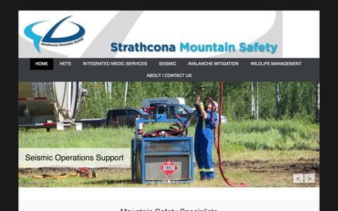 Screenshot of Home Page Menu Page strathconamountainsafety.com captured Oct. 7, 2014