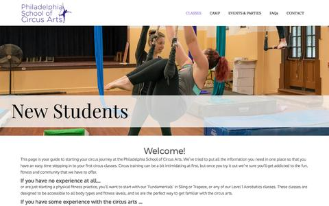 Philadelphia School of Circus Arts |  » New Student Guide