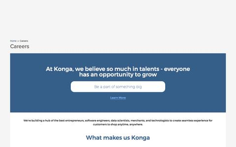 Screenshot of Jobs Page konga.com - Careers | Konga Nigeria - captured Nov. 5, 2017