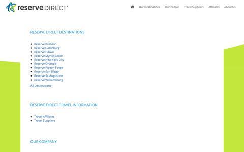 Screenshot of Site Map Page reservedirect.com - Sitemap - Reserve Direct - captured Jan. 24, 2018