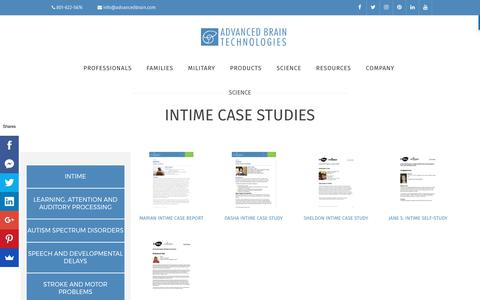 Screenshot of Case Studies Page advancedbrain.com - inTime Case Studies - Advanced Brain Technologies - captured July 6, 2017