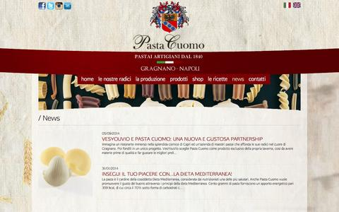 Screenshot of Press Page pastacuomo.com - Pasta Cuomo - captured Oct. 2, 2014