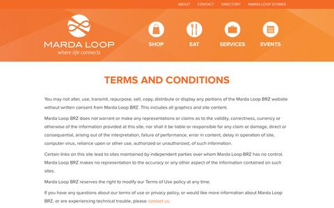 Screenshot of Terms Page mardaloopbrz.com - Terms and Conditions - captured June 13, 2016