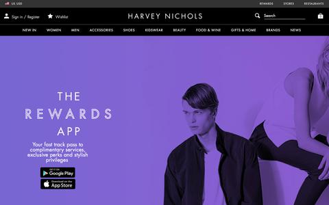 Screenshot of FAQ Page harveynichols.com - Rewards - Harvey Nichols - captured March 9, 2018