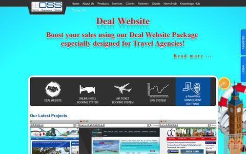 Screenshot of Home Page dss.com.sg - Distributed Software Solution Pte Ltd. - captured Oct. 5, 2014