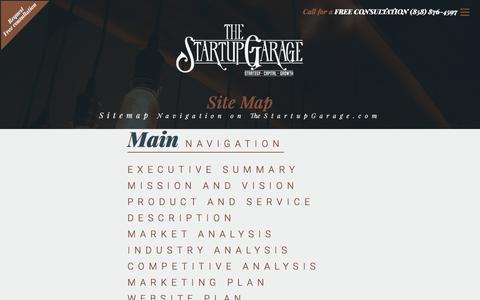 Sitemap | The Startup Garage | San Diego, CA