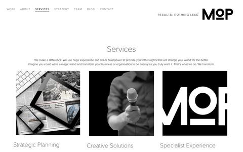 Screenshot of Services Page mo.partners - Magnum Opus Partners | Creative House Melbourne - captured July 6, 2018