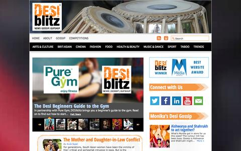 Screenshot of Home Page desiblitz.com - DESIblitz - captured Sept. 23, 2014