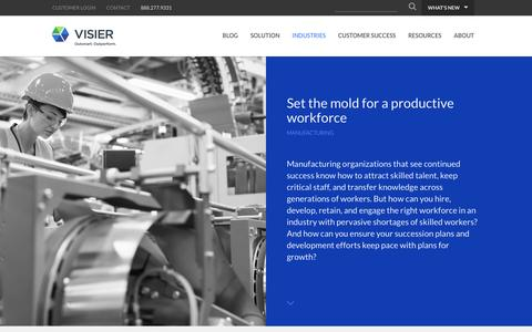 Manufacturing | Visier Inc.