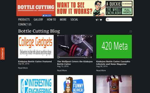 Screenshot of Press Page bottlecutting.com - Bottle Cutting Blog – Bottle Cutting Inc. - captured March 10, 2017
